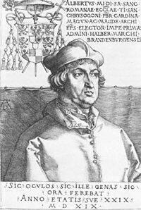 El Obispo Albrecht de Magnuncia.